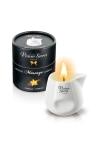 Bougie �rotique se transformant en huile de massage sensuelle au go�t gourmand de vanille.