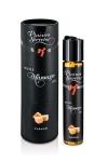 Huile de massage comestible avec go�t caramel exquis, par Plaisirs Secrets.