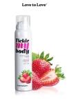 Cosm�tique �rotique sp�cial massages sensuels parfum fraise.