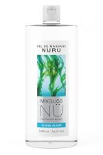 Gel massage Nuru Algue Mixgliss - 1 litre - Gel de massage NÜ par Mixgliss pour redécouvrir le plaisir du massage Nuru. Formule enrichie en algues, flacon de 1 Litre.