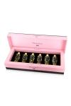 Coffret cadeau Prestige avec 6 huiles de massages s�ches Plaisir Secret aux parfums diff�rents, le tout dans une luxueuse boite.
