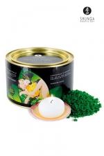 Cristaux de bain Fleur de Lotus - Shunga -  Cristaux d'Orient  Sel de la Mer Morte aromatisé et moussant, parfumé à la Fleur de Lotus.