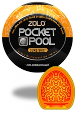 Zolo Sure Shot - Masturbateur de poche Pocket Pool � Sure Shot de marque Zolo, avec texture en �toiles.