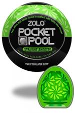 Zolo Straight Shooter - Masturbateur de poche Pocket Pool �  Straight Shooter de marque Zolo, avec texture  florale.