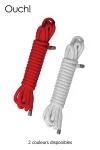 10 m de corde de bondage pour jouer à attacher l'autre et vous permettre toutes les fantaisies BDSM.