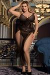 Transformez vous en femme fatale avec cette nuisette longue hyper sexy de la marque Paris Hollywood. Mod�le grande taille.