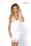 Simple mais terriblement glamour, cette nuisette en satin blanc est fabriqu�e en Europe par la marque Ana�s Lingerie.