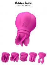 Caress - stimulateur clitoris - Le stimulateur clitoridien révolutionnaire, vibrant et rotatif, proposé avec 5 têtes interchangeables.