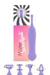 Petit vibro violet en silicone, offrant une stimulation puissante et cibl�e pour les zones �rog�nes et le clitoris.