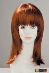 Perruque aspect cheveux naturels, à la coupe effilée volumineuse très féminine.