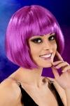 Perruque fantaisie avec cheveux courts couleur violet, marque Cabaret Wigs.