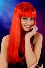 Perruque cheveux longs Rouge - Perruque fantaisie avec cheveux longs couleur rouge, marque Cabaret Wigs.