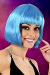 Perruque fantaisie avec cheveux courts couleur bleu, marque Cabaret Wigs.