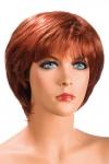 Perruque rousse aux cheveux courts ayants un aspect naturel. Elle � une jolie m�che effil�e � l�avant.