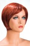 Perruque rousse aux cheveux courts en carr� moderne � la nuque d�grad�e.