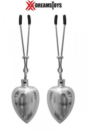Paire de pinces avec poids en aluminium brillant et poli, environ 50 g par poids, marque XXX-Dreamtoys.