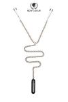 Une chainette BDSM avec pinces t�tons et vibro bullet pour un m�lange piquant de sensations.