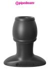 Plug anal traversé par un tunnel, en silicone haute qualité, 6,1 cm de longueur insérable par 3,7 cm de diamètre maxi.