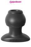 Plug anal grande taille travers� par un tunnel, en silicone haute qualit�, 6,1 cm de longueur ins�rable par 5 cm de diam�tre maxi.
