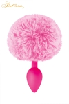 Un plug anal �l�gant et original avec son pompon rose en fourrure synth�tique fix� � son extr�mit�.