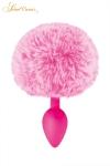 Un plug anal �l�gant et original avec son pompon rose en fourrure synth�tique fix� � son extr�mit�.