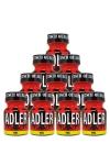 Pack de 10 Flacons de 9 ml de Poppers Adler, ar�me liquide �rotique � base de Nitrite de Penthyl (le plus fort).