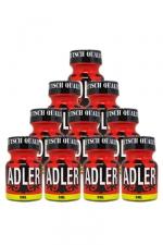 Pack 10 Poppers Adler 9ml - Pack de 10 Flacons de 9 ml de Poppers Adler, arôme liquide érotique à base de Nitrite de Penthyl (le plus fort).