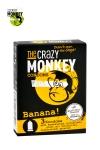 3 pr�servatifs jaunes, ar�me banane, cylindriques, lisses et lubrifi�s, par Crazy Monkey.