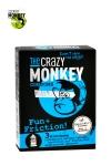 3 pr�servatifs transparents dot�s de picots et de nervures, pour accroitre les sensations de votre partenaire, marque Crazy Monkey.