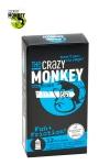 12 pr�servatifs transparents dot�s de picots et de nervures, pour accroitre les sensations de votre partenaire, marque Crazy Monkey.