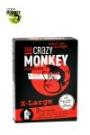 3 pr�servatifs taille XL, couleur rouge, avec saveur de fraise, pour les gros calibres par Crazy Monkey.
