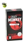 12 pr�servatifs taille XL, couleur rouge, avec saveur de fraise, pour les gros calibres par Crazy Monkey.