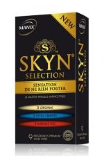 Préservatifs MANIX Skyn sélection x9 - Sélection de préservatifs Manix SKYN® dans un seul coffret avec: 3 ORIGINAL, 3 EXTRA LUBRIFIES, 3 INTENSE FEEL.