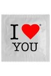 Pr�servatif  I Love You ,  un pr�servatif personnalis� humoristique de qualit�, fabriqu� en France, marque Callvin.