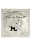 Pr�servatif  Vive Les Mari�s , un pr�servatif personnalis� humoristique de qualit�, fabriqu� en France, marque Callvin.