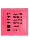Pr�servatif  Avance Recule , un pr�servatif personnalis� humoristique de qualit�, fabriqu� en France, marque Callvin.