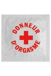Pr�servatif  Donneur D'orgasme , un pr�servatif personnalis� humoristique de qualit�, fabriqu� en France, marque Callvin.