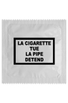 Pr�servatif  La Cigarette Tue , un pr�servatif personnalis� humoristique de qualit�, fabriqu� en France, marque Callvin.