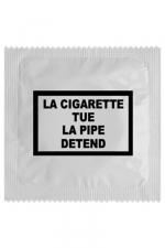 Préservatif humour - La Cigarette Tue - Préservatif  La Cigarette Tue , un préservatif personnalisé humoristique de qualité, fabriqué en France, marque Callvin.