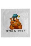 Pr�servatif  Ef Que Tu Fuffes , un pr�servatif personnalis� humoristique de qualit�, fabriqu� en France, marque Callvin.