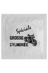 Pr�servatif  Grosse Cylindr�e , un pr�servatif personnalis� humoristique de qualit�, fabriqu� en France, marque Callvin.