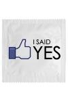Pr�servatif   I Said Yes , un pr�servatif personnalis� humoristique de qualit�, fabriqu� en France, marque Callvin.