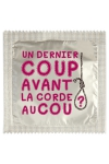 Pr�servatif  Un Dernier Coup , un pr�servatif personnalis� humoristique de qualit�, fabriqu� en France, marque Callvin.
