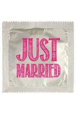 Préservatif humour - Just Married - Préservatif  Just Married , un préservatif personnalisé humoristique de qualité, fabriqué en France, marque Callvin.