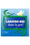 Pr�servatif  Laboure Moi Dans Le Pr� , un pr�servatif personnalis� humoristique de qualit�, fabriqu� en France, marque Callvin.