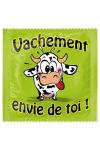 Pr�servatif  Vachement Envie De Toi , un pr�servatif personnalis� humoristique de qualit�, fabriqu� en France, marque Callvin.