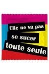 Pr�servatif  Se Sucer Toute Seule , un pr�servatif personnalis� humoristique de qualit�, fabriqu� en France, marque Callvin.