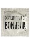 Pr�servatif  Distributeur De Bonheur , un pr�servatif personnalis� humoristique de qualit�, fabriqu� en France, marque Callvin.