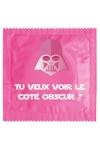 Pr�servatif  Tu Veux Voir Le Cot� Obscur , un pr�servatif personnalis� humoristique de qualit�, fabriqu� en France, marque Callvin.
