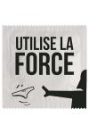 Pr�servatif  Utilise La Force , un pr�servatif personnalis� humoristique de qualit�, fabriqu� en France, marque Callvin.